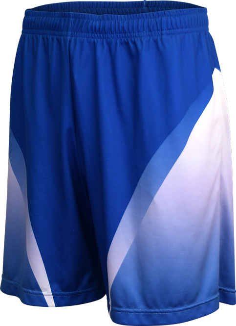 School Sublimated Basketball Shorts Front View