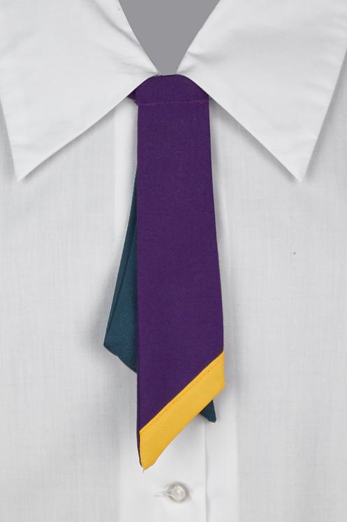 School Girls Button-On Tie Purple