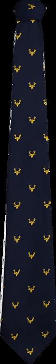 School Boys navy tie gold pattern