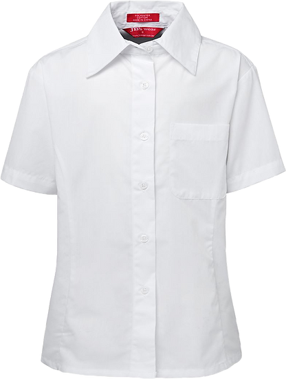 Short Sleeve Girls Blouse Front View