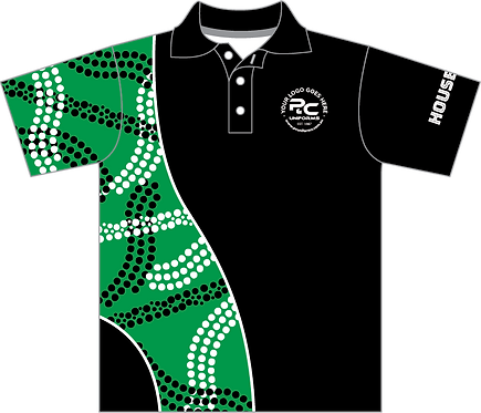 Sublimated Sports House Polo Front View Green