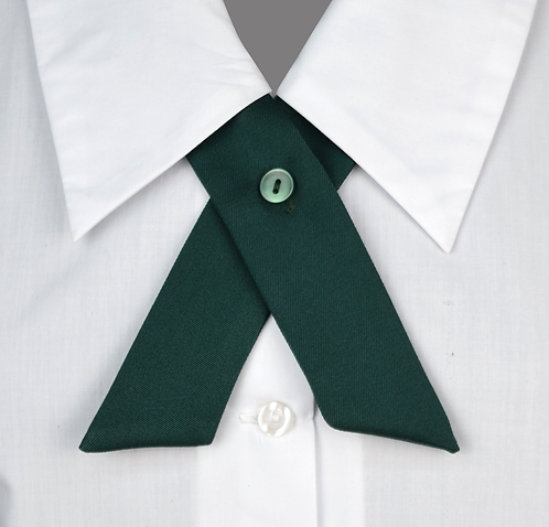 School Girls Crossover Tie green