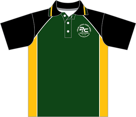 Sublimated School Polo Front View