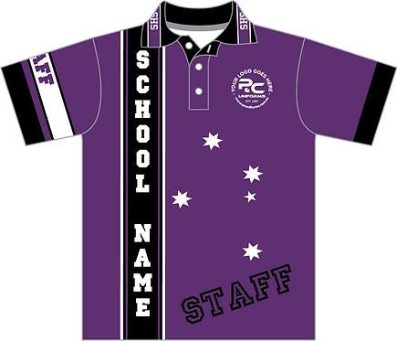 Sublimated Staff Polo Front View