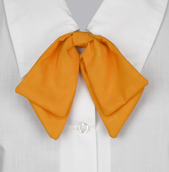 School Girls Bow Button-On Tie yellow