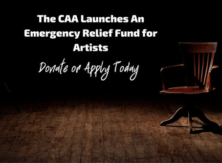 CAA Announces Second Round of Emergency Relief Funds for Artists