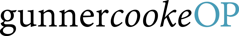 gunnercookeOP logo black and blue