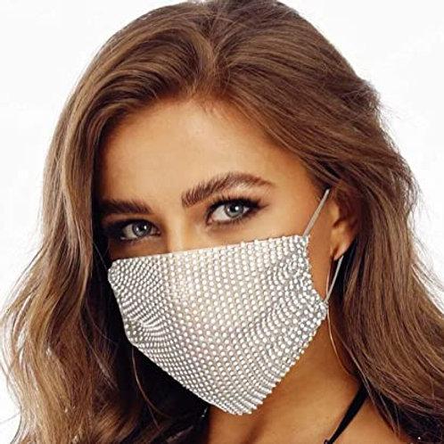 Quaran-Queen Rhinestone Face Masks