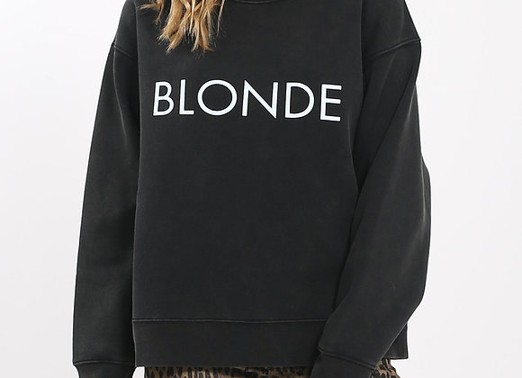 BLONDE Acid Washed Sweatshirt
