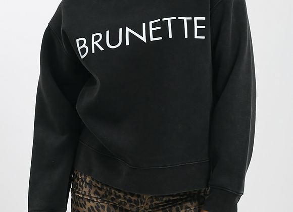 BRUNETTE Acid Washed Sweatshirt