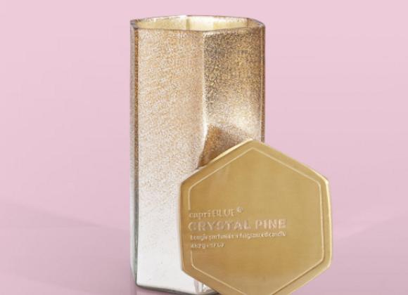 Crystal Pine Glitz Hexagon Candle