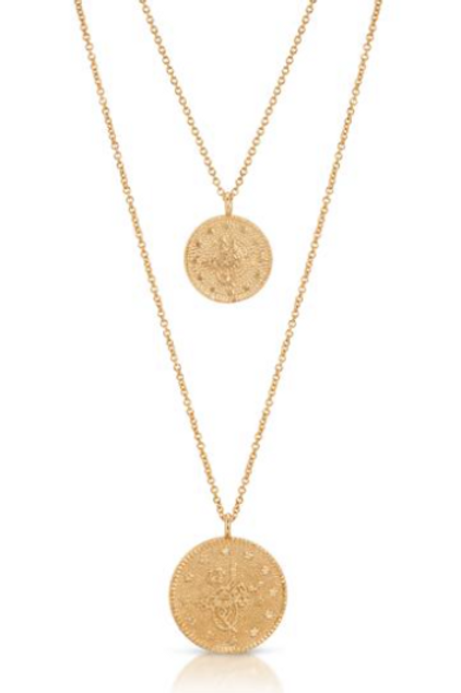 Empire Coin Layered Necklace