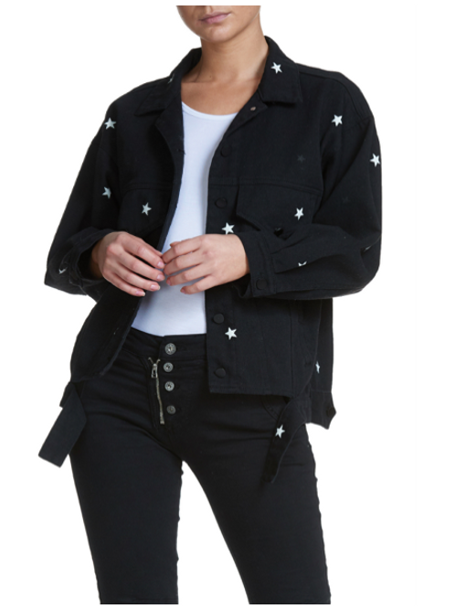 Black Star Denim Jacket