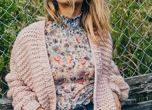 Bubble Sleeved Cardigan