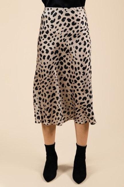 Beige Leopard Skirt