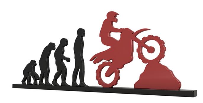 Objeto Evolução Motocross - 15x26cm