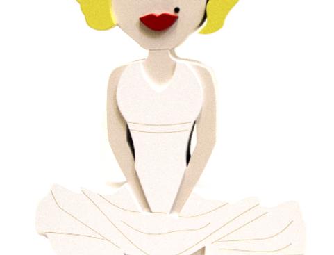 Boneca Marilyn Monroe - 29,6x14,3cm