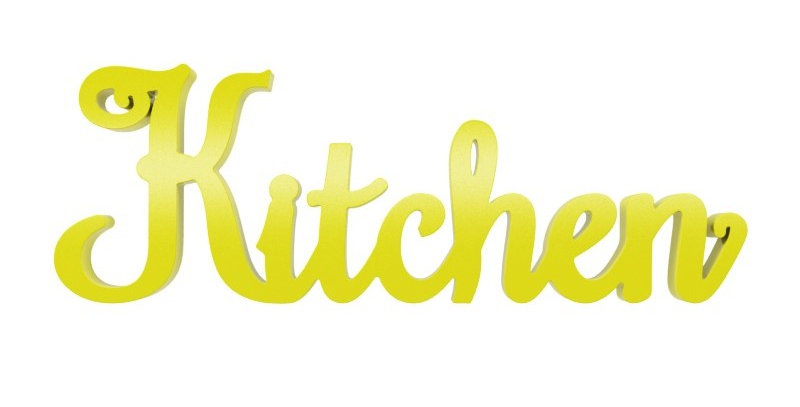Palavra Decorativa Kitchen Provençal - 10x35cm