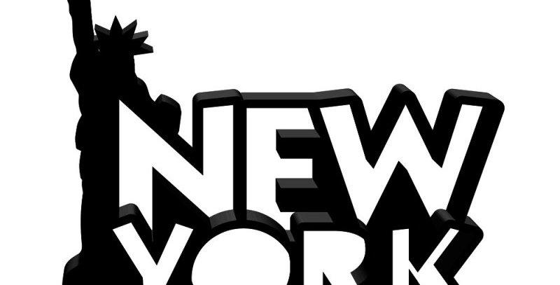 Palavra New York - 17x19cm