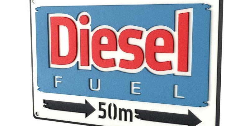 Quadro Diesel - 40x26,8cm