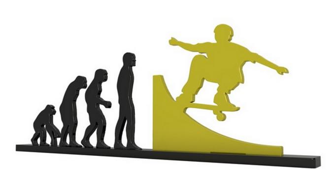 Objeto Evolução Skate - 15x26cm