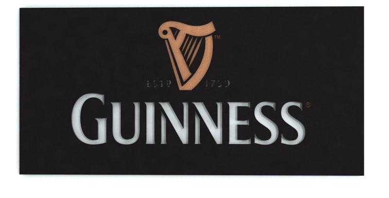 Quadro Guinness - 40x20cm