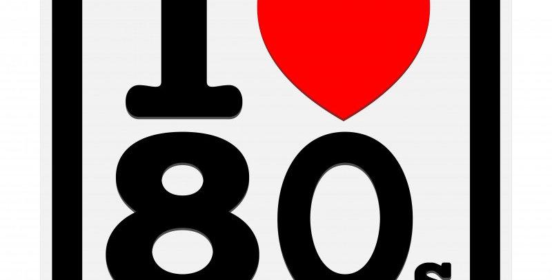 Quadro I Love Anos 80 - 40x40cm