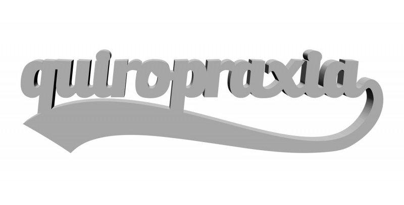 Palavra Decorativa Formatura Quiropraxia - 13x55cm