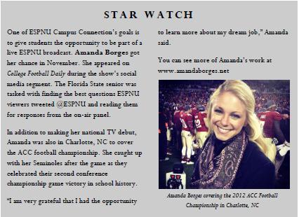 ESPNU Newsletter Article, 2012