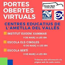 cartell portes obertes centres Ametlla.j
