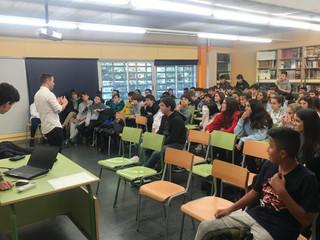 Visita de l'autor Arturo Padilla a 2n d'ESO