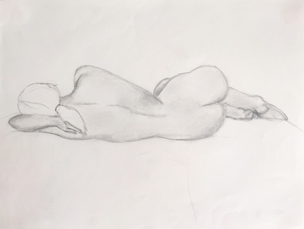 Pencil on paper. 30 minutes.