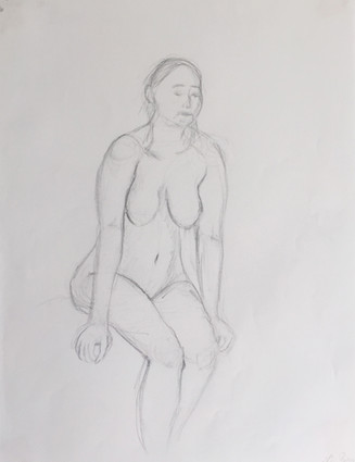Pencil on paper. 10 minutes