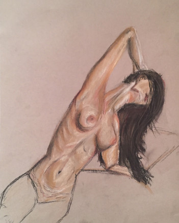 Chalk on paper. 40 minutes.