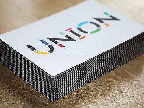 Визитки 50х90мм, цветная печать с 2х стр., 350гр