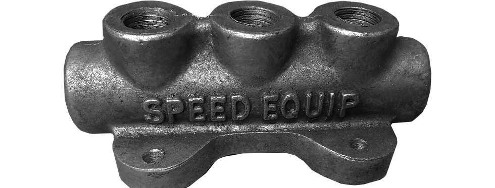 Lucky's Speed Equipment - 3 Port Fuel Block