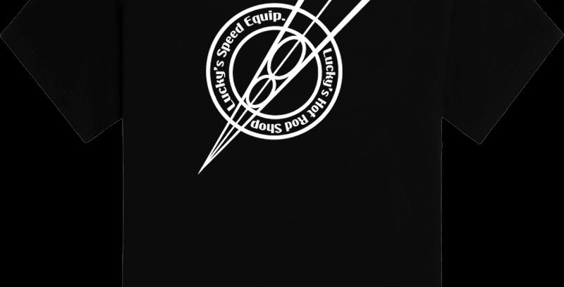 Lucky's Hot Rods - V8 Logo Tee