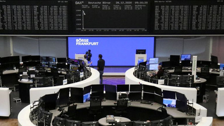 European shares cheer U.S. stimulus, post-Brexit trade deal