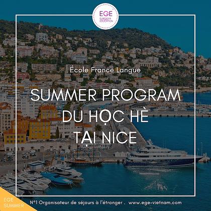 Du học hè tại Nice | 13-17 tuổi | Trường France Langue | STANDARD