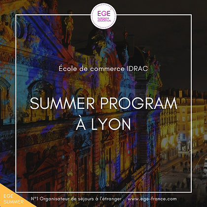 Summer Program à Lyon | Business & Management | École IDRAC | STANDARD