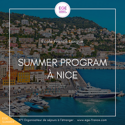 Summer Program à Nice | Sports - Français | École FL | COMFORT
