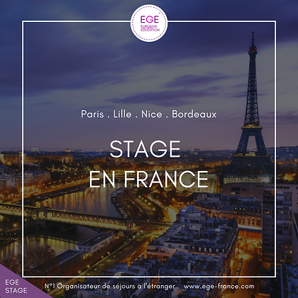 Stage en France | Internship in France | SMART