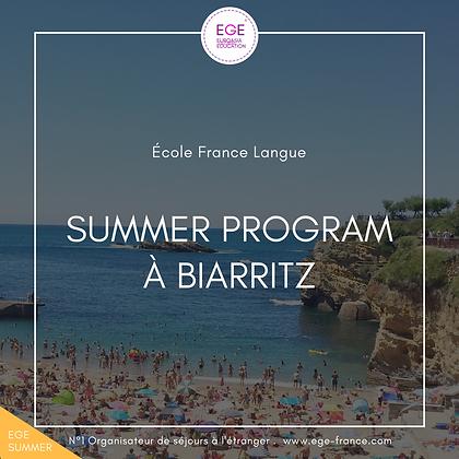 Summer Program à Biarritz | Sports & Français | École France Langue | STANDARD