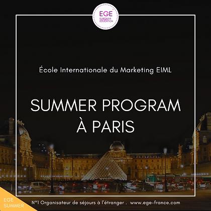 Summer Program à EILM Paris | Marketing & Mode | STANDARD