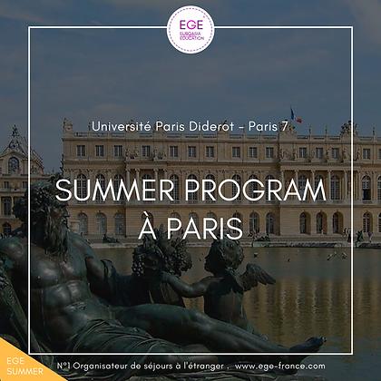 Summer Program à Sorbonne 7 Paris | Culture & Français | STANDARD