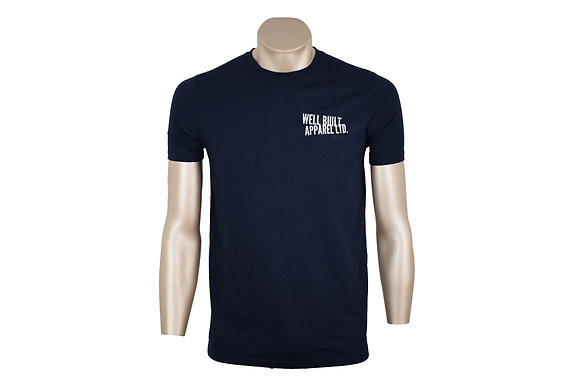 Navy and White Embroidered T-Shirt