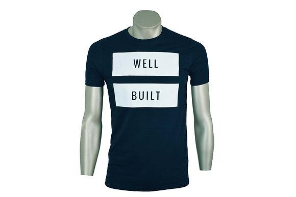 Navy and White Vinyl T-Shirt