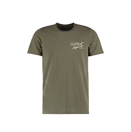 Scriptive Embroidered T-Shirt