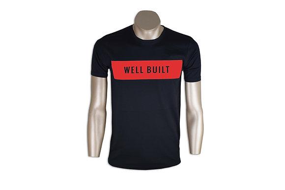Black & Red Single Block T-Shirt