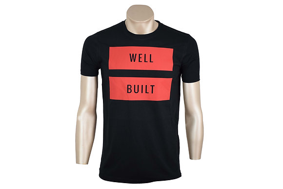 Black and Red Vinyl T-Shirt
